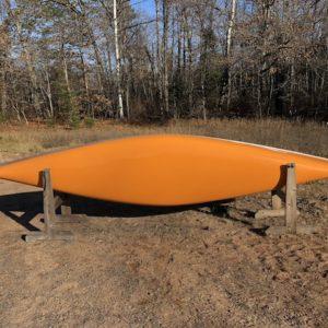 Wenonah Adirondack – Kevlar Ultralight, Silver Trim, Hung Web Seats, Mango – Blem