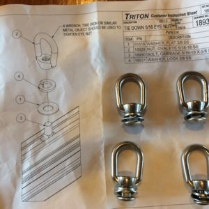 Trailer Option – Triton Trailers Eye Nut Tie Down Kit