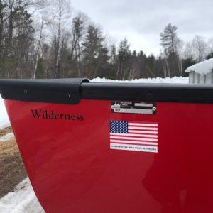 Wenonah Wilderness – Tuf Weave Flex Core – Red, Black Trim, Center Adjustable Hung Web Seat – Blem