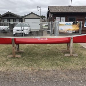 Wenonah Wilderness – Kevlar Flex Core – Red, Silver Trim, Center Adjustable Hung Web Seat – Blem