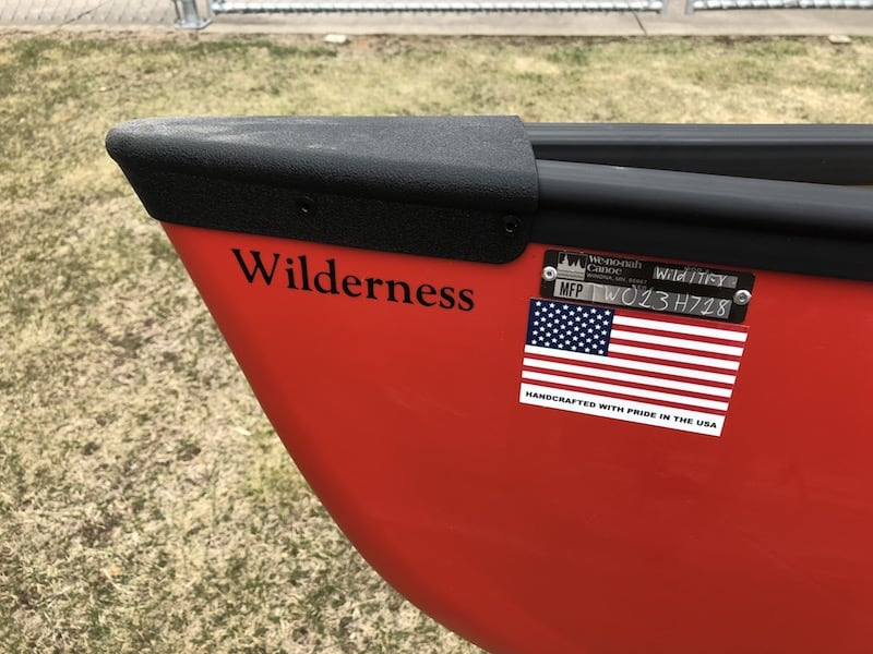 Wenonah Wilderness - T-Formex - Green or Red - Black Trim, Hung Web Seats -  Blem