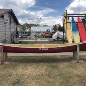 Wenonah Champlain – Kevlar Flex-Core, Silver Trim, Kevlar Bucket Sliding Bow Seats – Blem