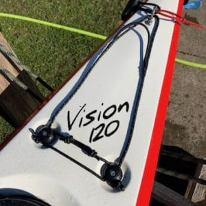 Current Designs Vision 120 SP – Hybrid, Smoke Over Smoke with Red Facets – Demo