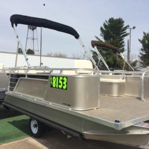 Paddle King – 2019 Lo Pro Angler Pontoon & Custom Trailer Package