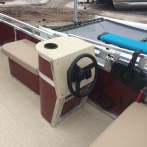 Paddle King – 2018 Lo Pro Cruiser Mini Pontoon w 20hp Mercury 4 stroke. Custom Trailer – Used LIKE NEW ~20 Hours – Hurry, this one won't last long