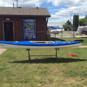 Current Designs Solara 135 – Hybrid, Blue Over Smoke, Rudder – NOS