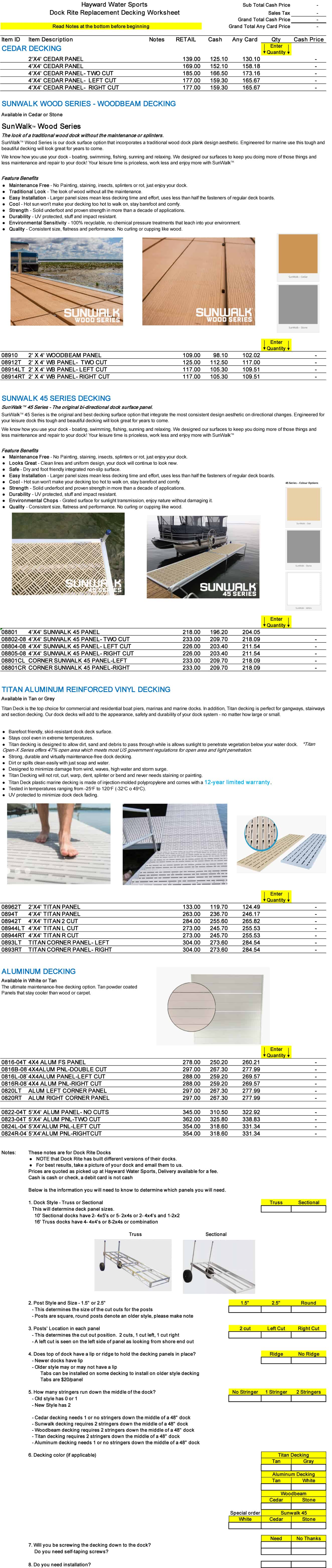 Replacement Decking for your Dock Rite Dock   Hayward Outfitters