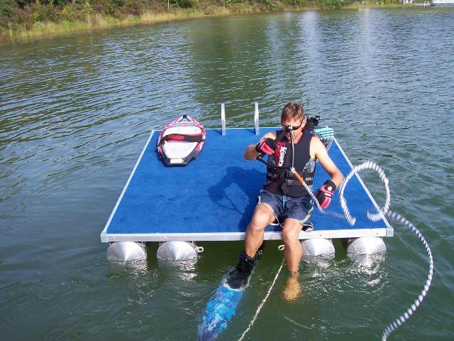 Paddle King Swim Raft With Ladder Hayward Outfitters